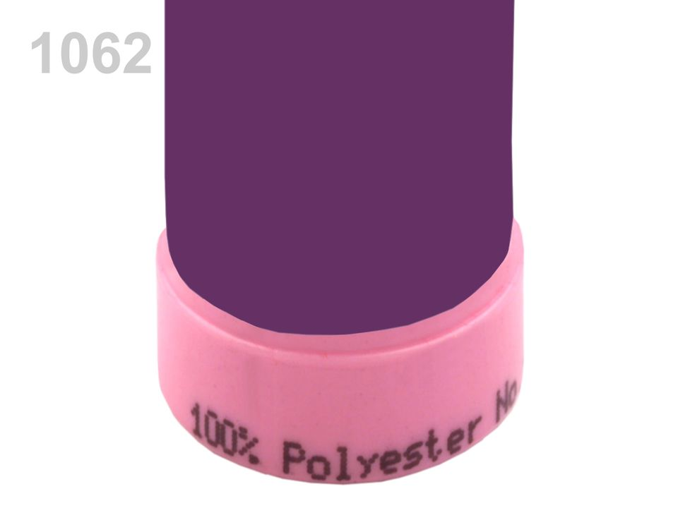 100066 Nitě polyesterové 100m -  1062 Grape Royale