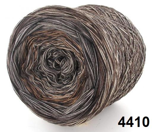 Barevné duhové klubíčko 4-NITKA (1125m/300g) - 4410