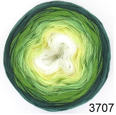 Barevné duhové klubíčko 2-NITKA (1125m/150g) - 3707