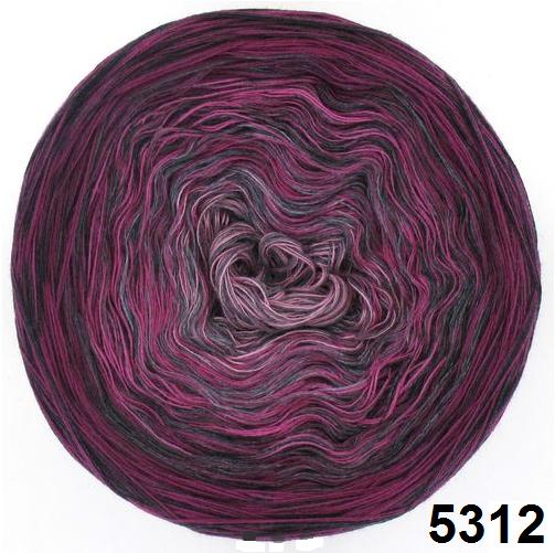 Barevné duhové klubíčko 3-NITKA (750m/150g) - 5312