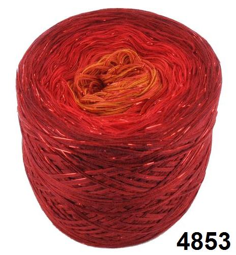 Barevné duhové klubíčko 3-NITKA (1000m/200g) - 4853