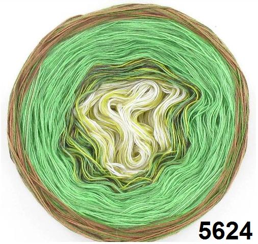 Barevné duhové klubíčko 4-NITKA (750m/200g) - 5624