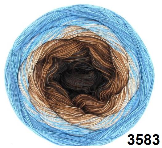 Barevné duhové klubíčko 3-NITKA (1000m/200g) - 3583