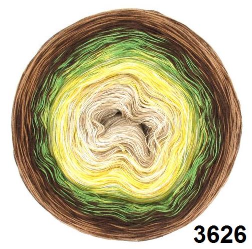 Barevné duhové klubíčko 3-NITKA (750m/150g) - 3626