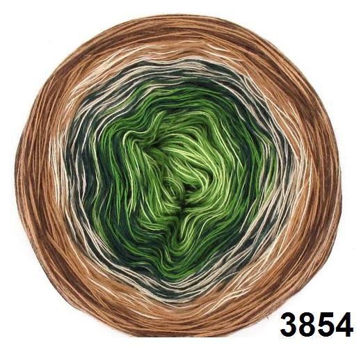 Barevné duhové klubíčko 3-NITKA (1000m/200g) - 3854