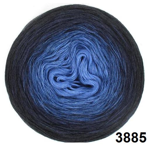 Barevné duhové klubíčko 3-NITKA (750m/150g) - 3885