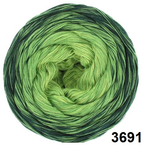 Barevné duhové klubíčko 3-NITKA (750m/150g) - 3691